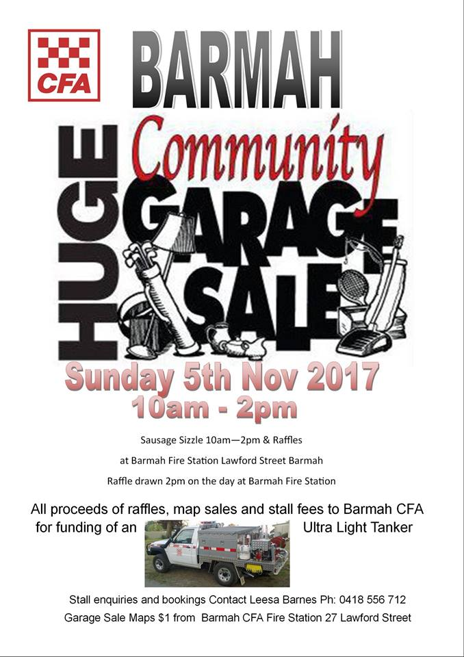Barmah Community Garage Sale Events On The Murray