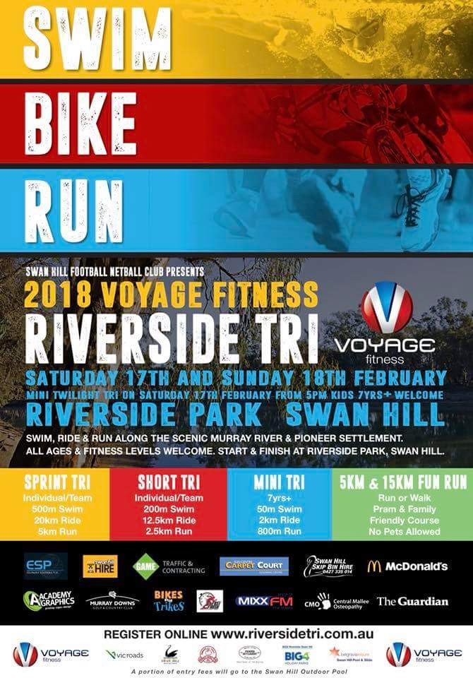2018 Voyage Fitness Riverside Tri Events On The Murray
